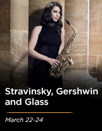Stravinksy, Gershwin and Glass